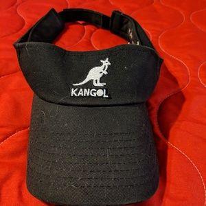 Old school black Kangol visor